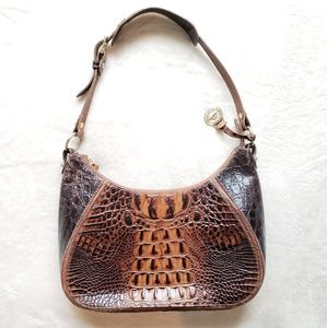 Brahmin Croc Leather Shoulder Bag